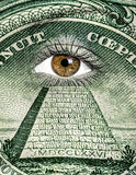Dólar pintado na cara Imagens de Stock