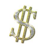 Dólar que bling Fotografia de Stock