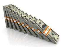 dólar que cae 3d stock de ilustración
