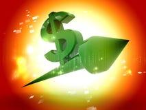 Dólar que sube stock de ilustración