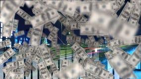Dólar que vuela hacia arriba metrajes