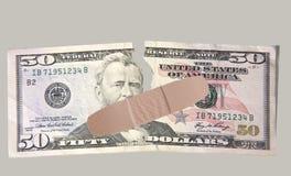 Dólar rasgado Foto de Stock Royalty Free