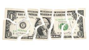 Dólar rasgado imágenes de archivo libres de regalías