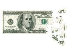 Dólar - rompecabezas Imagenes de archivo