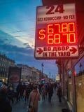 Dólar/rublo del intercambio de moneda Fotografía de archivo libre de regalías