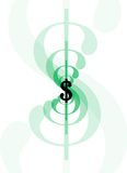 Dólar sign-line1 Fotos de Stock Royalty Free