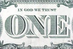 Dólar uno Foto de archivo