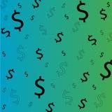 Dólar vector y del dinero Fotografía de archivo
