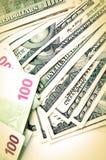 Dólar y euros Fotografía de archivo