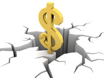 Dólar y hueco Imagen de archivo libre de regalías