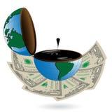 Dólar y petróleo Imágenes de archivo libres de regalías