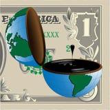 Dólar y petróleo ilustración del vector