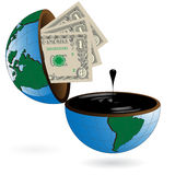 Dólar y petróleo Fotografía de archivo