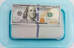 100 dólares Fotos de archivo