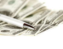 Dólares abstratos do fundo fotografia de stock