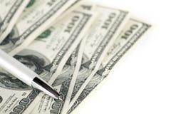 Dólares abstratos do fundo imagem de stock