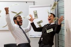 Dólares acertados de la dispersión de los encargados Imagen de archivo libre de regalías