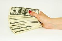 Dólares americanos Imagen de archivo libre de regalías
