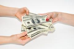 Dólares americanos imágenes de archivo libres de regalías
