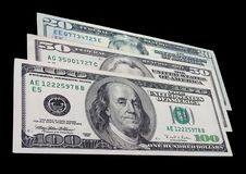 Dólares americanos Fotografía de archivo libre de regalías