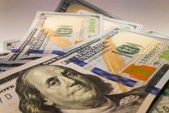 Dólares americanos Billetes de banco del dinero Bill de los billetes de dólar de dinero Imagen de archivo
