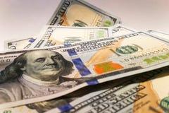 Dólares americanos Billetes de banco del dinero Bill de los billetes de dólar de dinero Foto de archivo