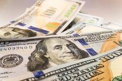 Dólares americanos Billetes de banco del dinero Bill de los billetes de dólar de dinero fotos de archivo libres de regalías