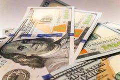 Dólares americanos Cédulas do dinheiro Bill de notas de dólar de dinheiro Fotos de Stock Royalty Free