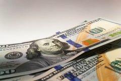 Dólares americanos Cédulas do dinheiro Bill de notas de dólar de dinheiro Fotografia de Stock
