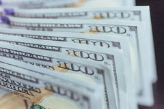 Dólares americanos Cem cédulas do dólar, 100 Fotos de Stock
