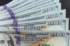 Dólares americanos Cientos billetes de banco del dólar, 100 Imagenes de archivo