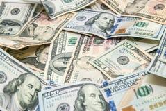 Dólares americanos como o fundo Imagem de Stock