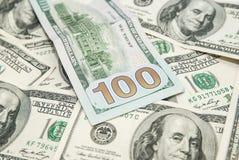 Dólares americanos como o fundo Fotografia de Stock