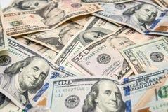 Dólares americanos como o fundo Foto de Stock Royalty Free