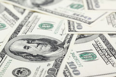 Dólares americanos das notas de banco Fotografia de Stock