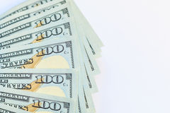 Dólares americanos de dinero del efectivo Fotografía de archivo
