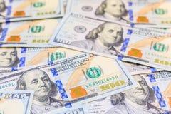 Dólares americanos de dinero del efectivo Fotografía de archivo libre de regalías