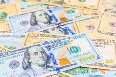Dólares americanos de dinero del efectivo Imagen de archivo