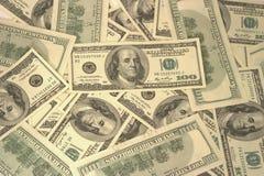 Dólares americanos de fondo Fotos de archivo libres de regalías