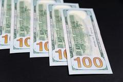 Dólares americanos diferentes das cédulas Imagens de Stock Royalty Free