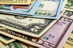 Dólares americanos do dinheiro Fotos de Stock