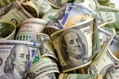 Dólares americanos do dinheiro imagem de stock royalty free
