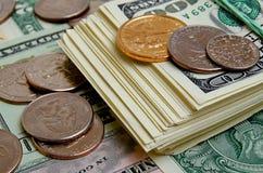 Dólares americanos do dinheiro Foto de Stock