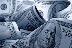 Dólares americanos do dinheiro Fotos de Stock Royalty Free