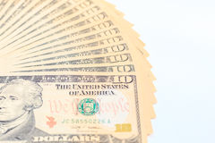 Dólares americanos do dinheiro do dinheiro Fotografia de Stock Royalty Free