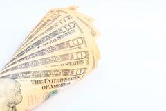Dólares americanos do dinheiro do dinheiro Imagens de Stock Royalty Free