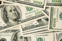 Dólares americanos do fundo fotografia de stock