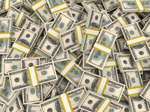 Dólares americanos do fundo Imagens de Stock