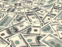Dólares americanos do fundo Fotos de Stock Royalty Free