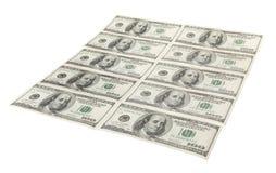 Dólares americanos em cru Fotos de Stock